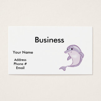 cute baby dolphin business card