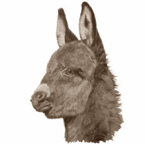 Cute baby donkey drawing realist art sculpture pin