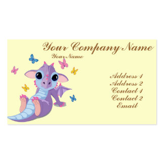 Cute Baby Dragon Double-Sided Standard Business Cards (Pack Of 100)