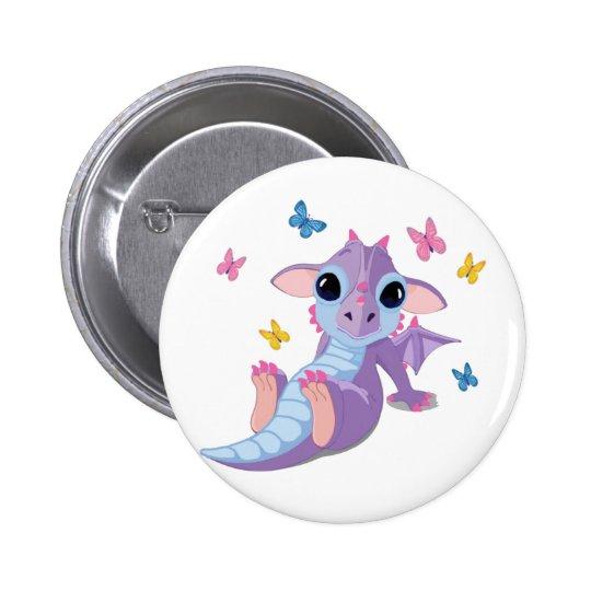 Cute Baby Dragon Button