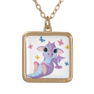 Cute Baby Dragon Gold Plated Necklace