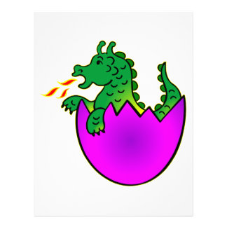 Cute Baby Dragon In Egg Flyer Design
