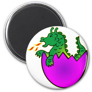Cute Baby Dragon In Egg Magnet