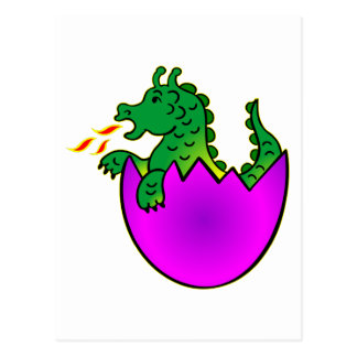 Cute Baby Dragon In Egg Postcard
