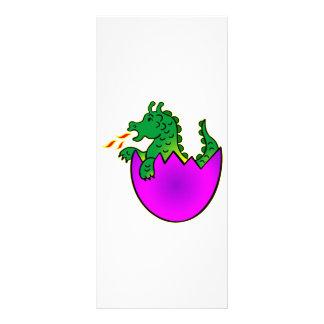 Cute Baby Dragon In Egg Rack Card