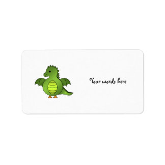 Cute baby dragon personalized address labels