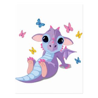 Cute Baby Dragon Postcard