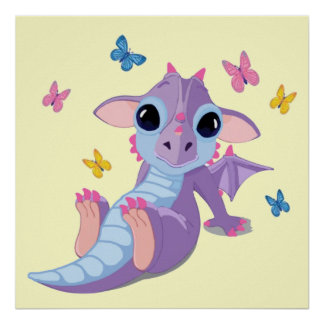 Cute Baby Dragon Posters