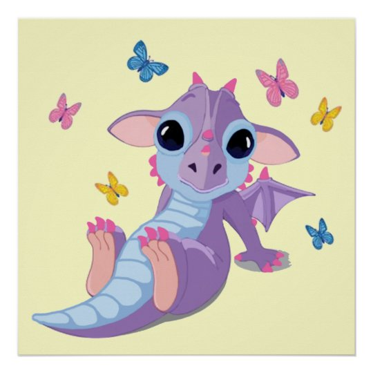 Cute Baby Dragon Poster