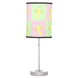 Cute baby dragonflies table lamp