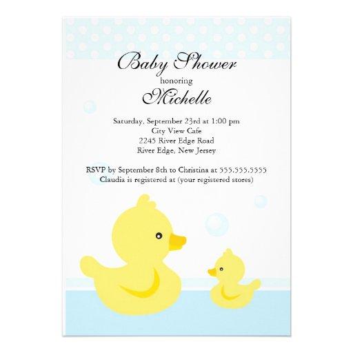 cute baby duck baby shower invitation 5 x 7 invitation card zazzle