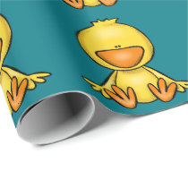 cute baby duck baby shower wrapping paper