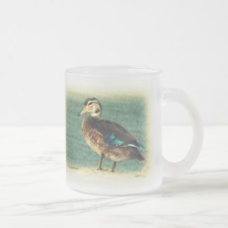 Cute Baby Duck Frosted Glass Coffee Mug