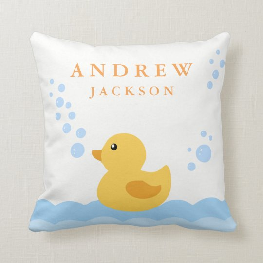 Cute Baby Duck Nursery Pillow