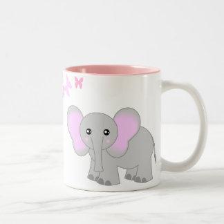 Cute Baby Elephant And Butterflies Mug