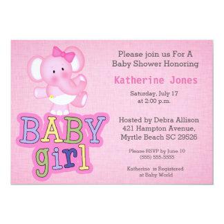 Cute Baby Elephant Baby Shower Invitation