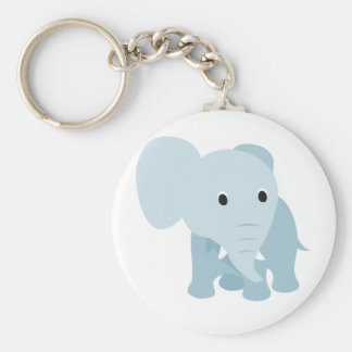 Cute Baby Elephant Basic Round Button Keychain