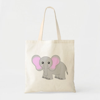 Cute Baby Elephant Budget Tote Bag