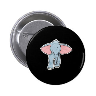 cute baby elephant 2 inch round button