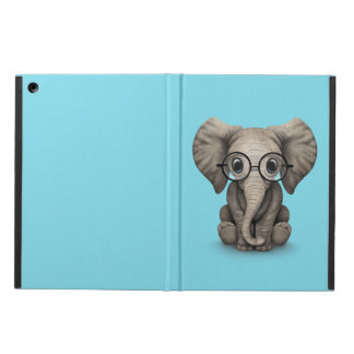 Cute Baby Elephant Calf with Reading Glasses Cover For iPad Air