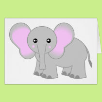 Cute Baby Elephant Card