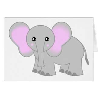 Cute Baby Elephant Greeting Cards