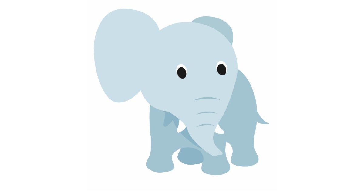 Cute Baby Elephant Cutout Zazzle Com