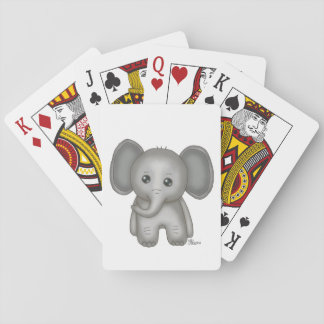 Cute Baby Elephant Deck Of Cards