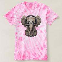 Cute Baby Elephant Dj Wearing Headphones T-shirt