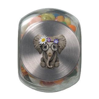 Cute Baby Elephant Hippie Jelly Belly Candy Jar