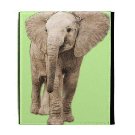 Cute Baby Elephant iPad Folio Cases