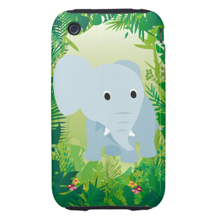 Cute Baby Elephant iPhone 3 Tough Case