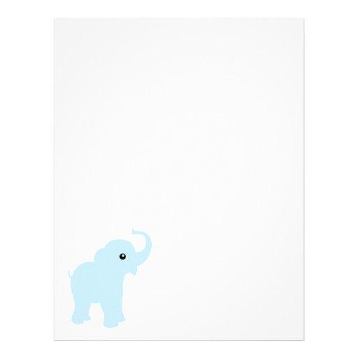 baby elephant stationery or letterhead zazzle