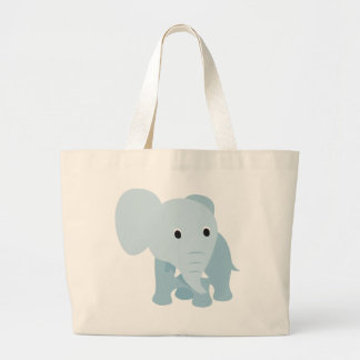 Cute Baby Elephant Large Tote Bag