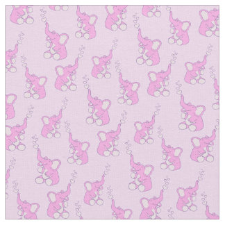 Baby elephant fabric zazzle for Cute baby fabric