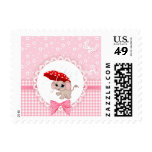 Cute Baby Elephant Pink Baby Sprinkle Shower Postage Stamps