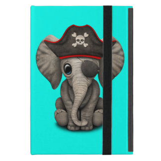 Cute Baby Elephant Pirate iPad Mini Cover
