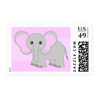 Cute Baby Elephant Postage Stamp