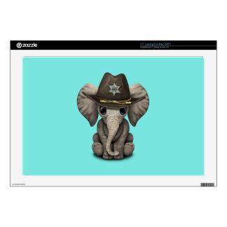Cute Baby Elephant Sheriff Laptop Skins