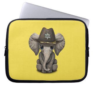 Cute Baby Elephant Sheriff Laptop Sleeve