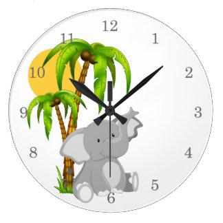Cute Baby Elephant Wall Clocks