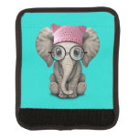 Cute Baby Elephant Wearing Pussy Hat Luggage Handle Wrap