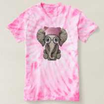Cute Baby Elephant Wearing Pussy Hat T-shirt