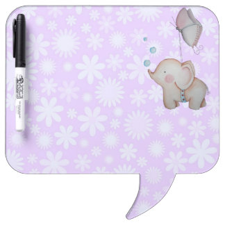 Cute Baby Elephant with Butterfly Dry Erase Board