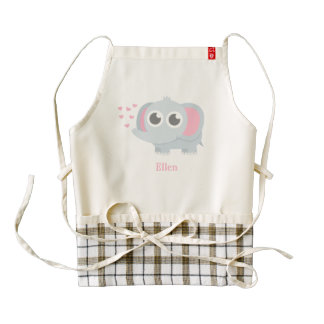Cute Baby Elephant With Love For Girls Zazzle HEART Apron
