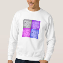 Cute Baby Elephants Soft Colors Pattern Sweatshirt