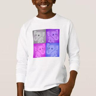 Cute Baby Elephants Soft Colors Pattern T-Shirt