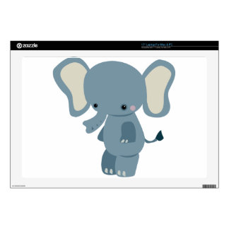"""Cute baby eleplant 17"""" laptop decal"""