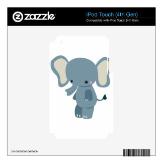 Cute baby eleplant iPod touch 4G decal