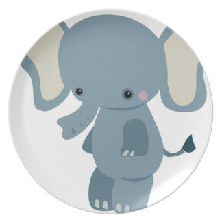 Cute baby eleplant plate